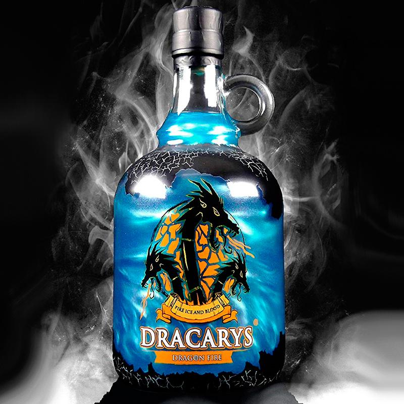 Acero Y Magia Botella Licor Dracarys Ice Juego De Tronos