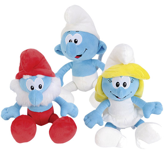 Pitufos peluches moldes - Imagui