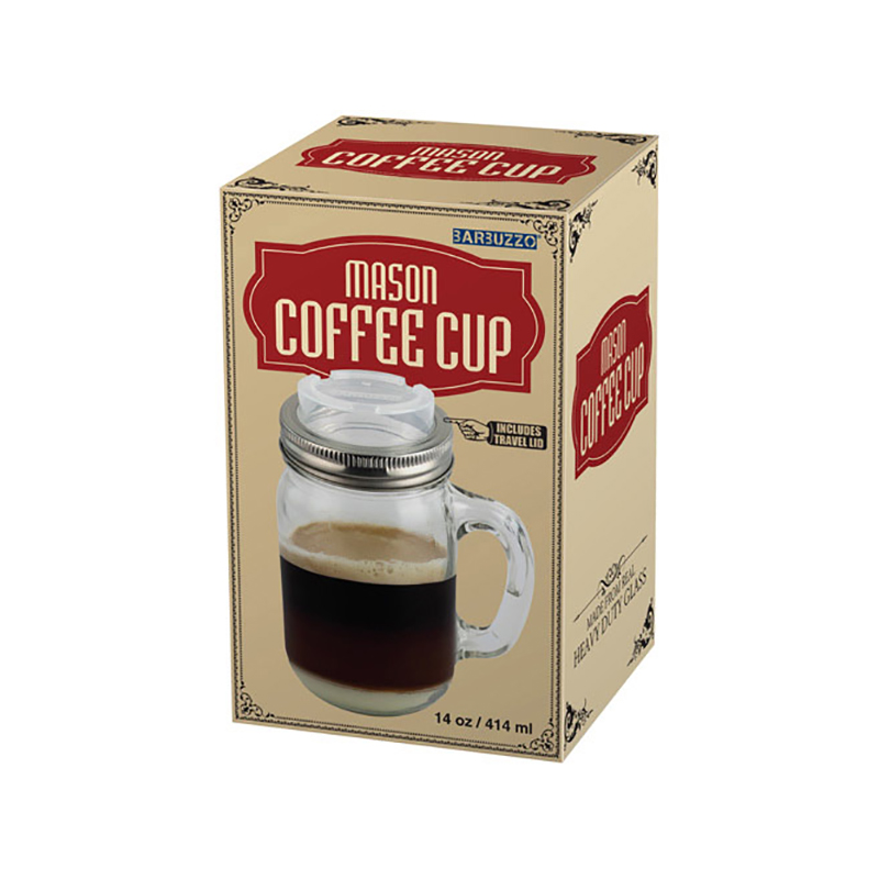 Taza de caf retro mason coffee cup for Tazas para cafe espresso